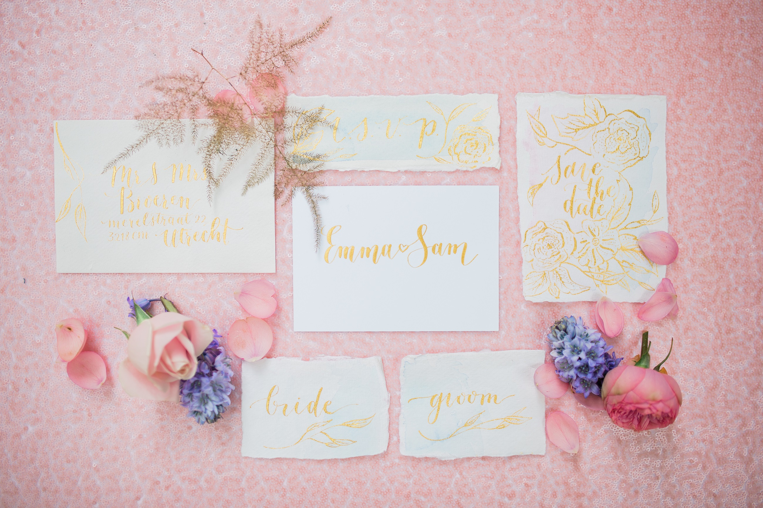 Styled Shoot Serenity & Rose Quartz, September 2016